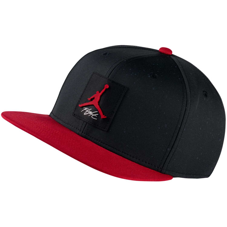 Gorro de Hombre Nike Negro / rojo jordan pro aop snapback