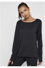 Polo manga larga de Mujer Nike Negro w nk dry top ls elastika