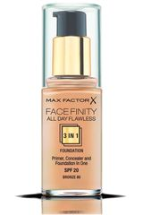 Max Factor Bronze de Mujer modelo base facefinity all day flawless 3 en 1 Base líquida Maquillaje