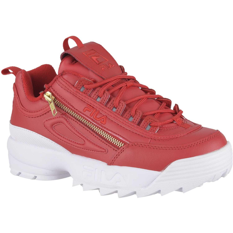 Zapatilla de Mujer Fila Rojo / blanco disruptor ii zipper fem