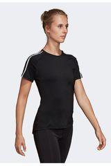 Adidas Negro de Mujer modelo w d2m 3s tee Polos Deportivo