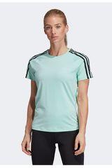 Adidas Verde de Mujer modelo w d2m 3s tee Polos Deportivo