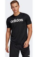 Polo de Hombre Adidas Negro d2m cool logo t