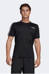 Polo de Hombre Adidas Negro d2m tee 3s