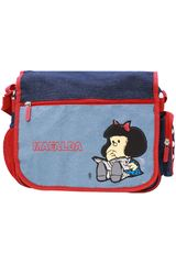 Mafalda Azul de Niña modelo morral mafalda Morrales