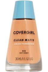 Base Líquida de Mujer Covergirl base clean matte liquid foundation Soft Honey 555