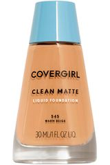 Base Líquida de Mujer Covergirl base clean matte liquid foundation Warm Beige
