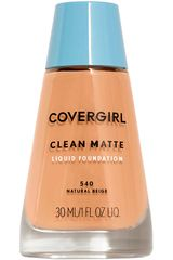 Covergirl Natural Beige 540 de Mujer modelo base clean matte liquid foundation Maquillaje Base líquida