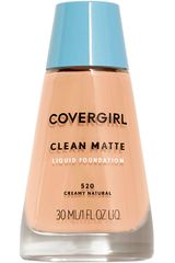 Covergirl Creamy Natural 520 de Mujer modelo base clean matte liquid foundation Maquillaje Base líquida