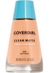 Covergirl Buff Beige 525 de Mujer modelo base clean matte liquid foundation Maquillaje Base líquida