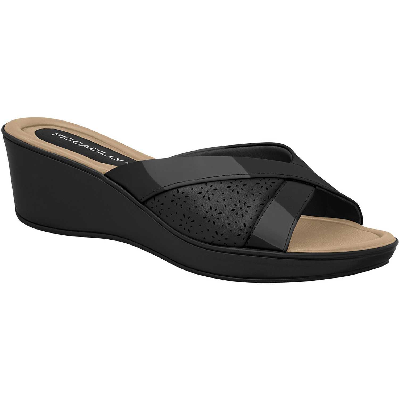 Sandalia Cuña de Mujer Piccadilly Negro sandalia  540242-9-13