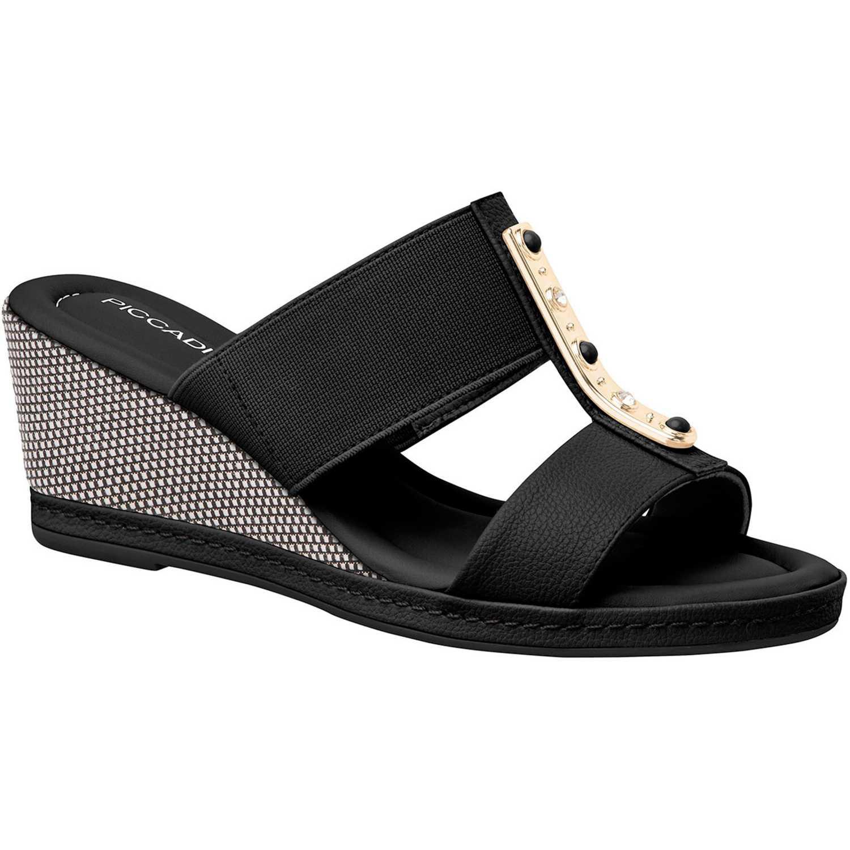 Sandalia Cuña de Mujer Piccadilly Negro sandalia  408127-9-12