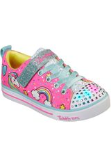 Skechers Rosado de Niña modelo sparkle lite unicorn craze Deportivo Zapatillas Walking Casual Urban