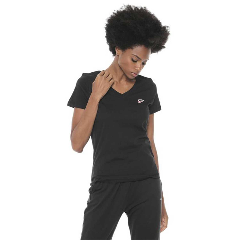 Polo de Mujer Nike Negro w nsw tee lbr
