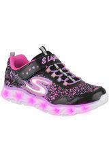 Skechers Negro / rosado de Mujer modelo galaxy lights Walking Zapatillas Urban