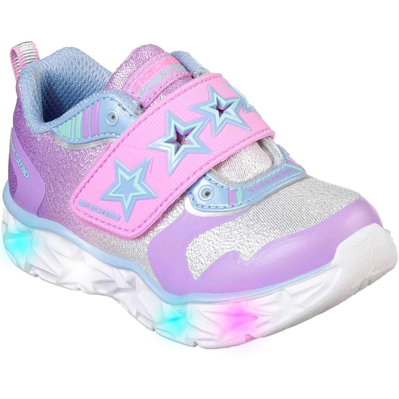Zapatilla de Niña Skechers Rosado galaxy lights