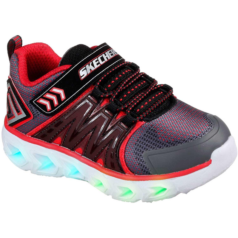 Zapatilla de Niño Skechers Negro / rojo hypno-flash 2.0