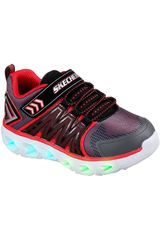 Skechers Negro / rojo de Niño modelo hypno-flash 2.0 Zapatillas Walking Casual Urban Zapatillas casual Deportivo
