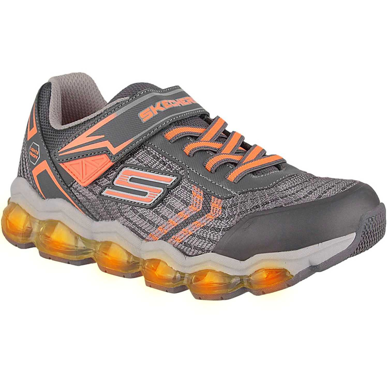 Zapatilla de Niño Skechers Gris / amarillo turbo-flash