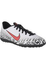 Nike Blanco / negro de Jovencito modelo jr vapor 12 club gs njr tf Fútbol Zapatillas Deportivo