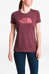 The North Face Rojo de Mujer modelo w half dome tri-blend crew tee Polos Casual