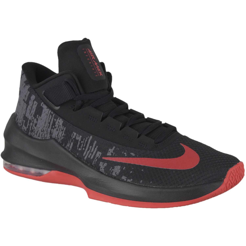 Zapatilla de Hombre Nike Negro / rojo air max infuriate 2 mid