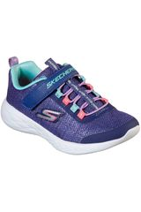 Skechers Navy de Niña modelo go run 600 - sparkle runner Deportivo Urban Walking Zapatillas Casual