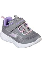 Skechers Plomo de Niña modelo go run 600 - sparkle runner Casual Deportivo Urban Walking Zapatillas
