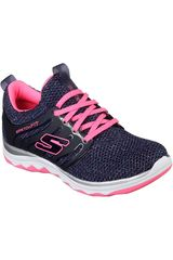 Skechers Navy de Niña modelo diamond runner - sparkle sprints Casual Deportivo Urban Walking Zapatillas