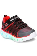 Skechers Negro / rojo de Niño modelo hypno-flash 2.0 Walking Casual Zapatillas casual Zapatillas Deportivo Urban