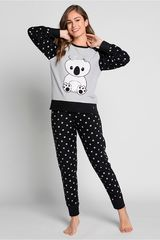 Pijama de Mujer Kayser Negro 60.1189