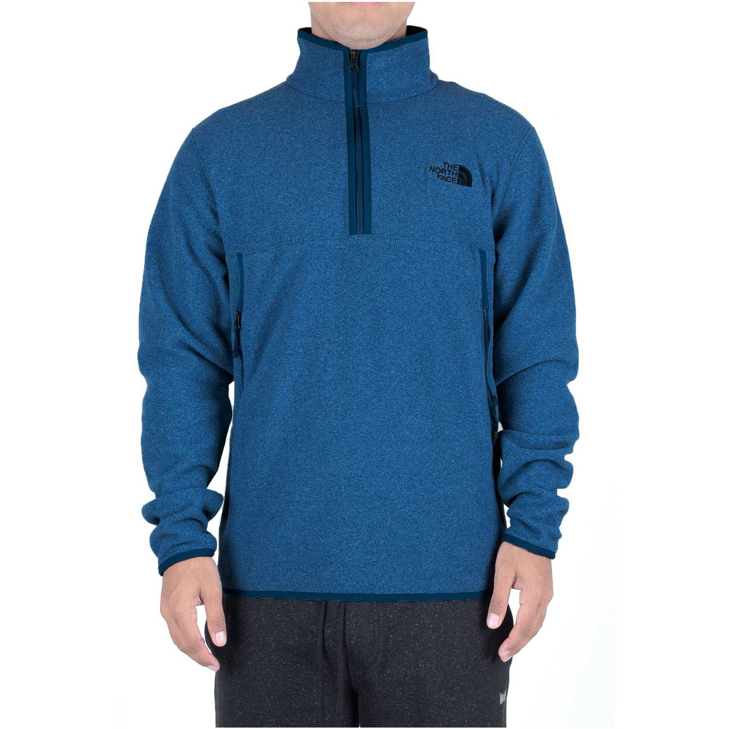 Casaca de Hombre The North Face Azul m glacier alpine 1/4 zip