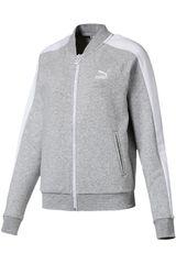 Puma Gris / blanco de Mujer modelo classics t7 track jacket ft Casacas Deportivo