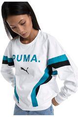 Puma Blanco / celeste de Mujer modelo chase long sleeve top Deportivo Poleras