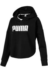 Polera de Mujer Puma Negro / blanco summer cropped light hoody