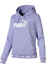 Puma Morado / blanco de Mujer modelo amplified hoody tr Deportivo Poleras