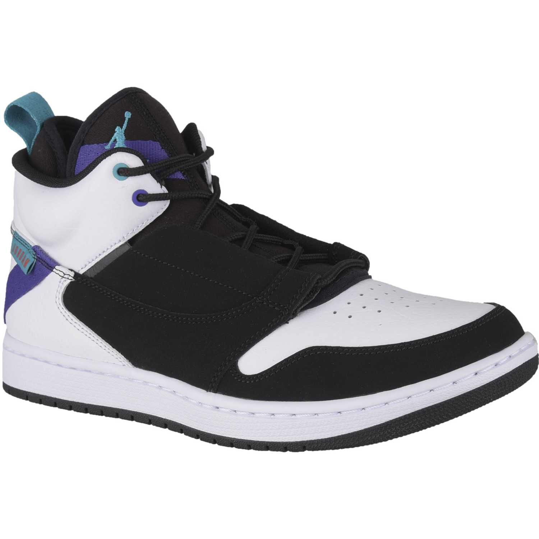 Zapatilla de Hombre Nike Blanco / negro jordan fadeaway