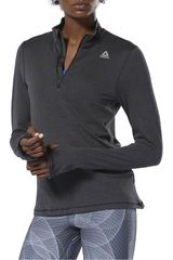 Reebok Negro de Mujer modelo re 1/4 zip Deportivo Polos Poleras