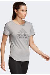 Adidas Gris de Mujer modelo rs soft tee w Deportivo Polos