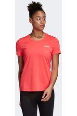 Adidas Coral de Mujer modelo d2m solid tee Deportivo Polos