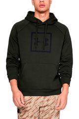 Under Armour Militar de Hombre modelo rival fleece logo hoodie-grn Poleras Deportivo