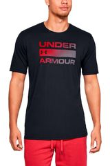 Under Armour Negro de Hombre modelo ua team issue wordmark ss Polos Deportivo