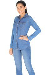 Blusa de Mujer COTTONS JEANS Azul carola