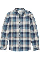 Camisa de Hombre Billabong Acero / Beige coastline flannel