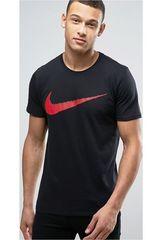 Polo de Hombre Nike Negro / rojo m nsw tee hangtag swoosh