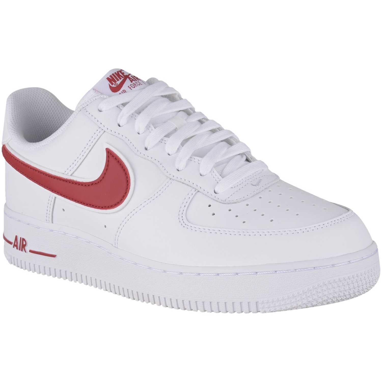 Zapatilla de Hombre Nike Blanco / rojo air force 1 '07 3