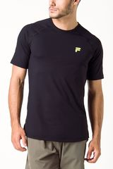 Fila Negro de Hombre modelo camiseta masc. fila distance Polos Deportivo