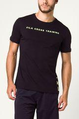 Fila Negro de Hombre modelo camiseta masc. fila champions Polos Deportivo