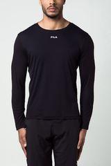 Fila Negro de Hombre modelo m/l masc. fila basic sunprotec Deportivo Polos