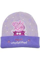 Peppa Pig Lila de Niña modelo gorro invierno peppa pig Gorros